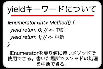 yieldキーワードについての画像